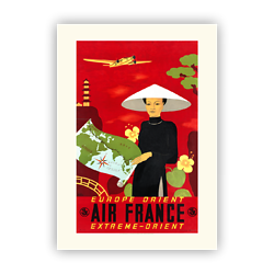 Affiche Air France Europe Orient A012
