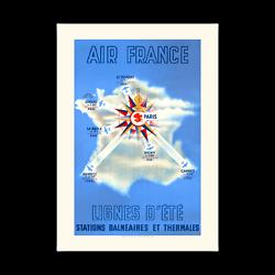 Affiche Air France Lignes d'été A016