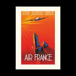 Affiche AF Afrique Occidentale Française A023