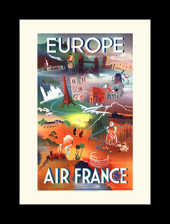 Affiche Air France Europe A028