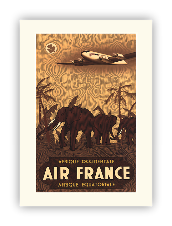 Affiche Air France Afrique occidentale A029