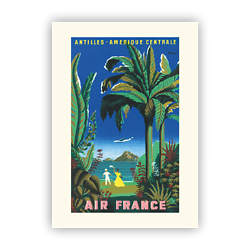Affiche Air France Antilles - Amérique Centrale A030