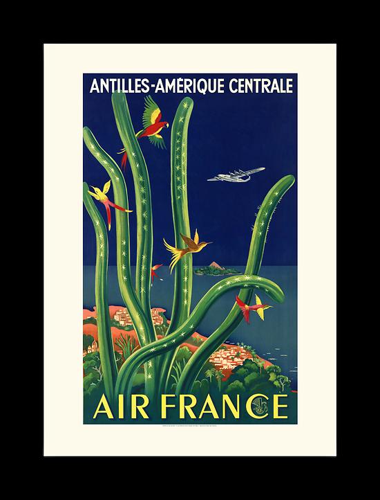 Affiche Air France Antilles - Amérique Centrale A031