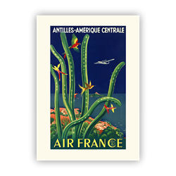 Affiche Air France Antilles - Amérique Centrale A031