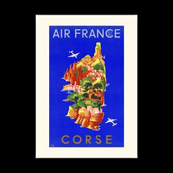 Affiche Air France Corse A035