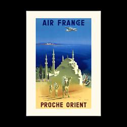 Affiche Air France Proche Orient A045
