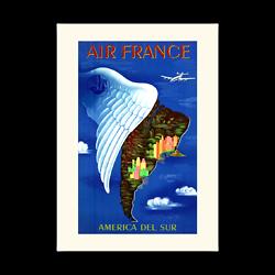 Affiche Air France America del sur A046