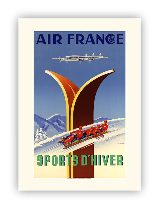 Affiche Air France Sports d'hiver A048