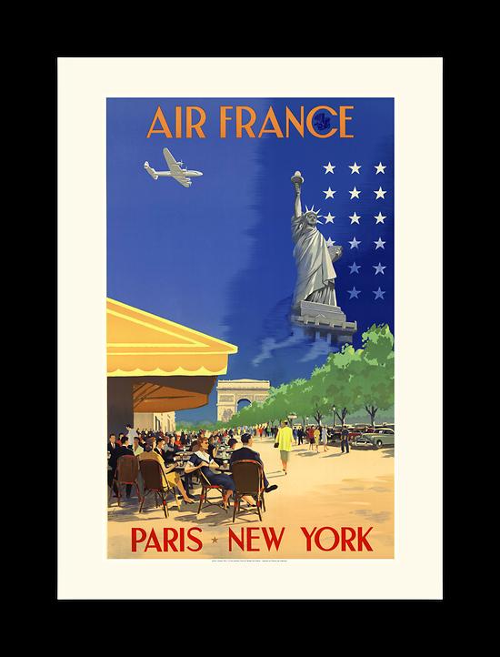 Affiche Air France Paris New - York A054