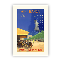 Affiche Air France Paris New - York A054