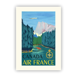 Affiche Air France Canada A056