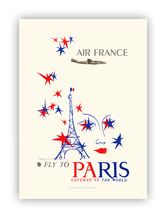 Affiche Air France Paris, Gateway to the world A066