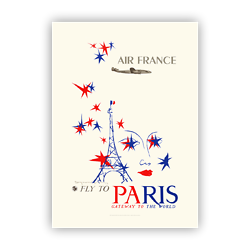 Affiche Air France Paris, Gateway to the world A066