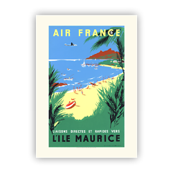 Affiche Air France L'ïle Maurice A068