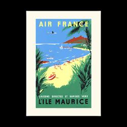 Affiche Air France L'ïle Maurice A068