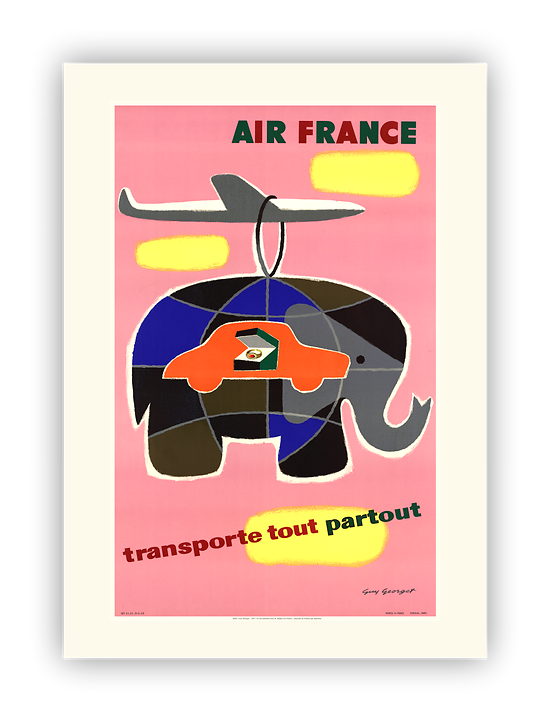 Affiche Air France Transporte tout, partout A084
