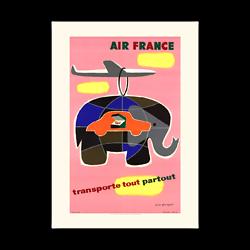Affiche Air France Transporte tout, partout A084
