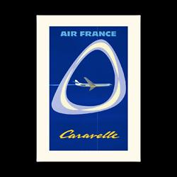 Affiche Air France Caravelle A090