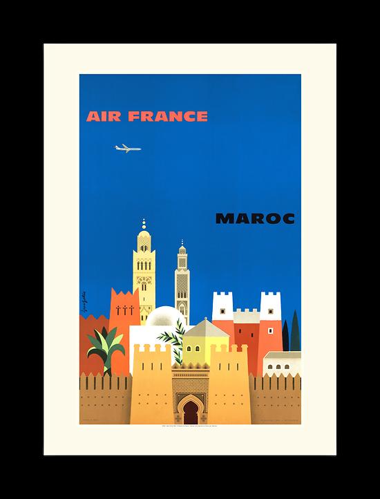 Affiche Air France Maroc A092