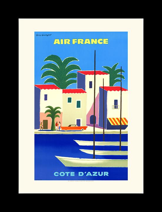 Affiche Air France Côte d'Azur A096