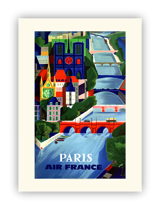 Affiche Air France Paris A106