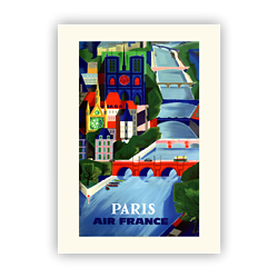 Affiche Air France Paris A106