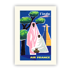 Affiche Air France Inde A108