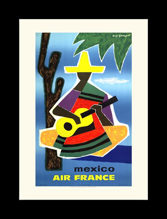 Affiche Air France Mexique A109
