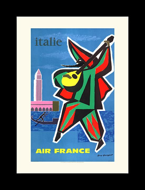 Affiche Air France Italie A110