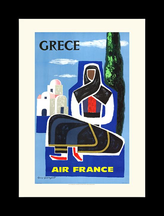 Affiche Air France Grèce A112
