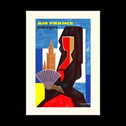 Affiche Air France Espagne A113