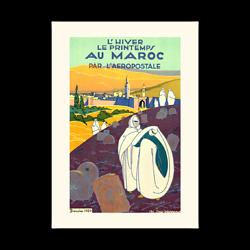 Affiche Aéropostale l?hiver le printemps au maroc A150