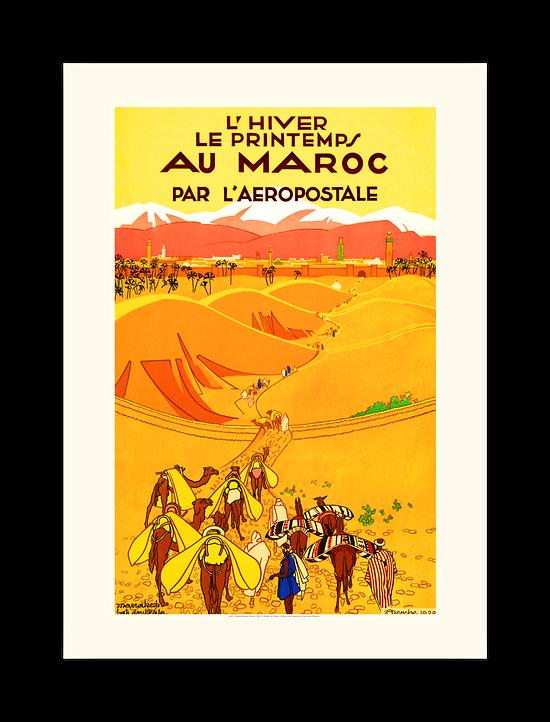 Affiche Aéropostale l?hiver le printemps au maroc A151