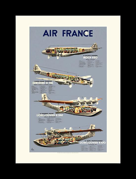 Affiche Air France Flotte époque A180