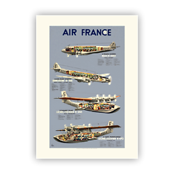 Affiche Air France Flotte époque A180