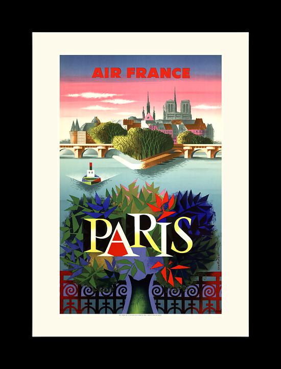 Affiche Air France Paris A231