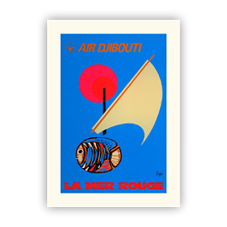 Affiche Air Djibouti La Mer rouge A275