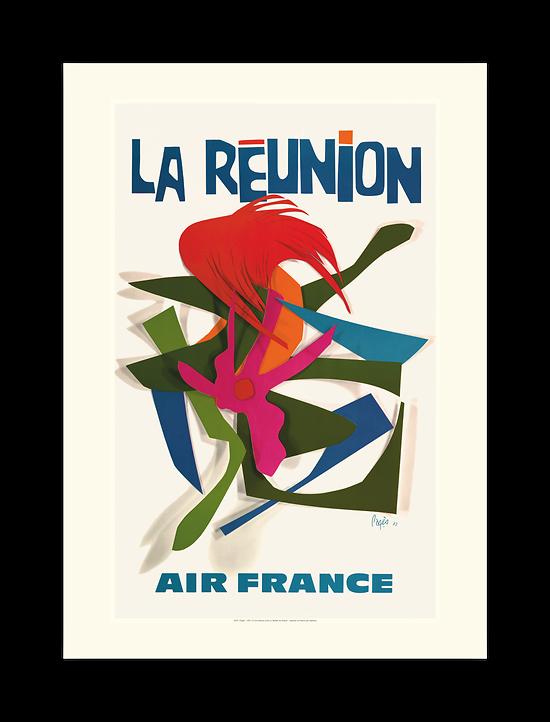 Affiche Air France La Réunion A276