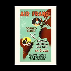 Affiche Air France Air France / Espana America en 3 dias A298
