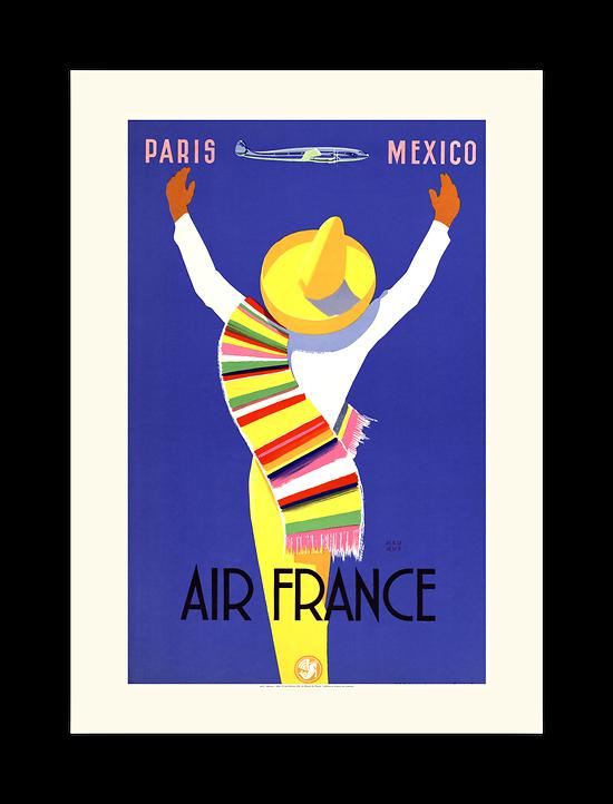 Affiche Air France Paris Mexico A307