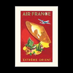 Affiche Air France Extrême Orient A326