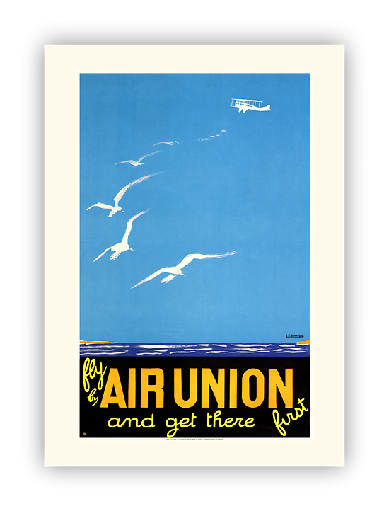 Affiche Air France Fly by Air Union and get there first A351