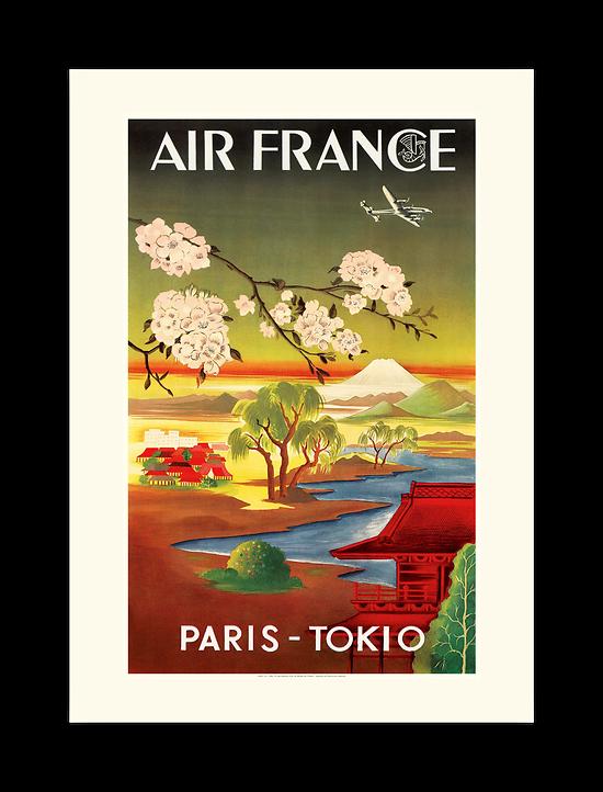 Affiche Air France PARIS TOKIO A359