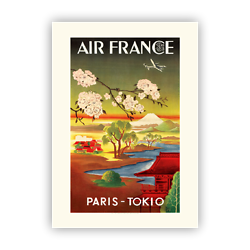Affiche Air France PARIS TOKIO A359