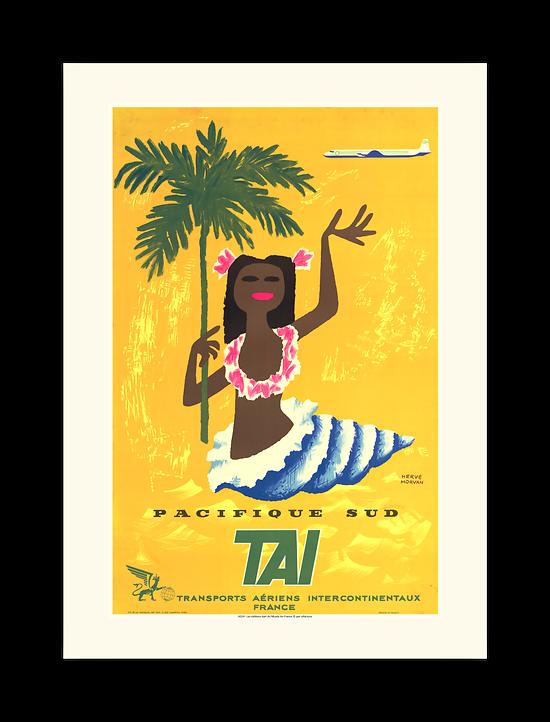 Affiche Air France Pacifique Sud A524
