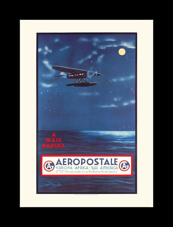 Affiche Aéropostale A Mais rapida A566