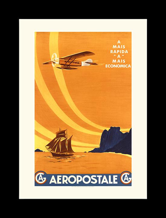 Affiche Aéropostale A Mais rapida A Mais economica A567