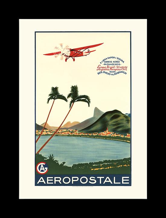 Affiche Aéropostale A linha rapida e segura A568