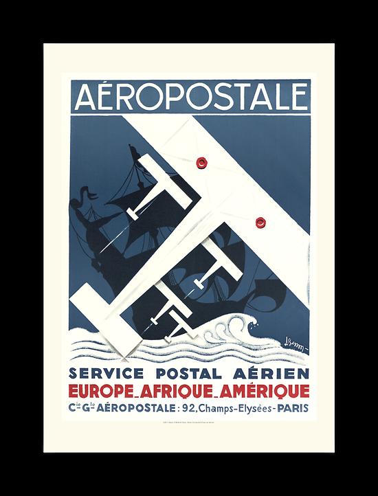 Affiche Aéropostale Service postal aérien A1801