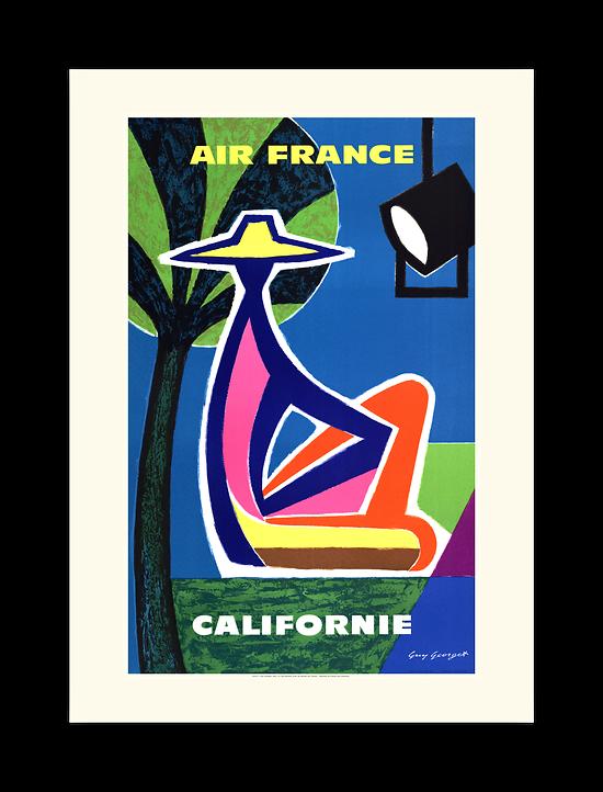 Affiche Air France Californie A107